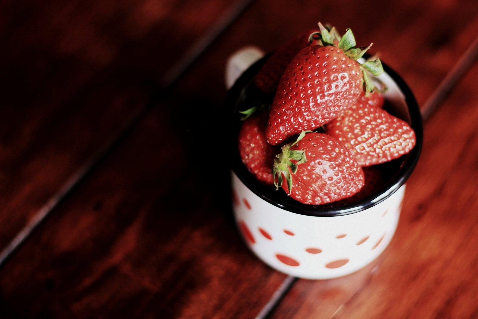 jahody pripravené na použitie