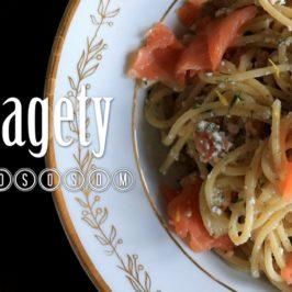 Špagety s lososom