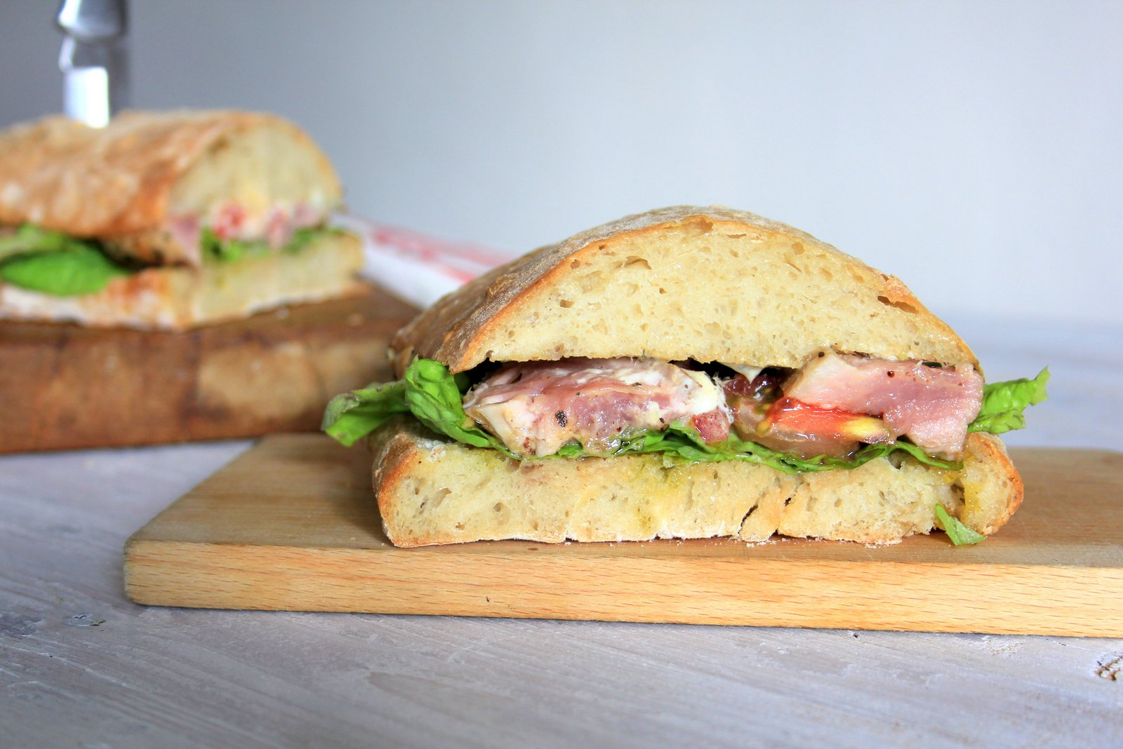 virgin sarnie - panenka v ciabatte, recept na sendvic