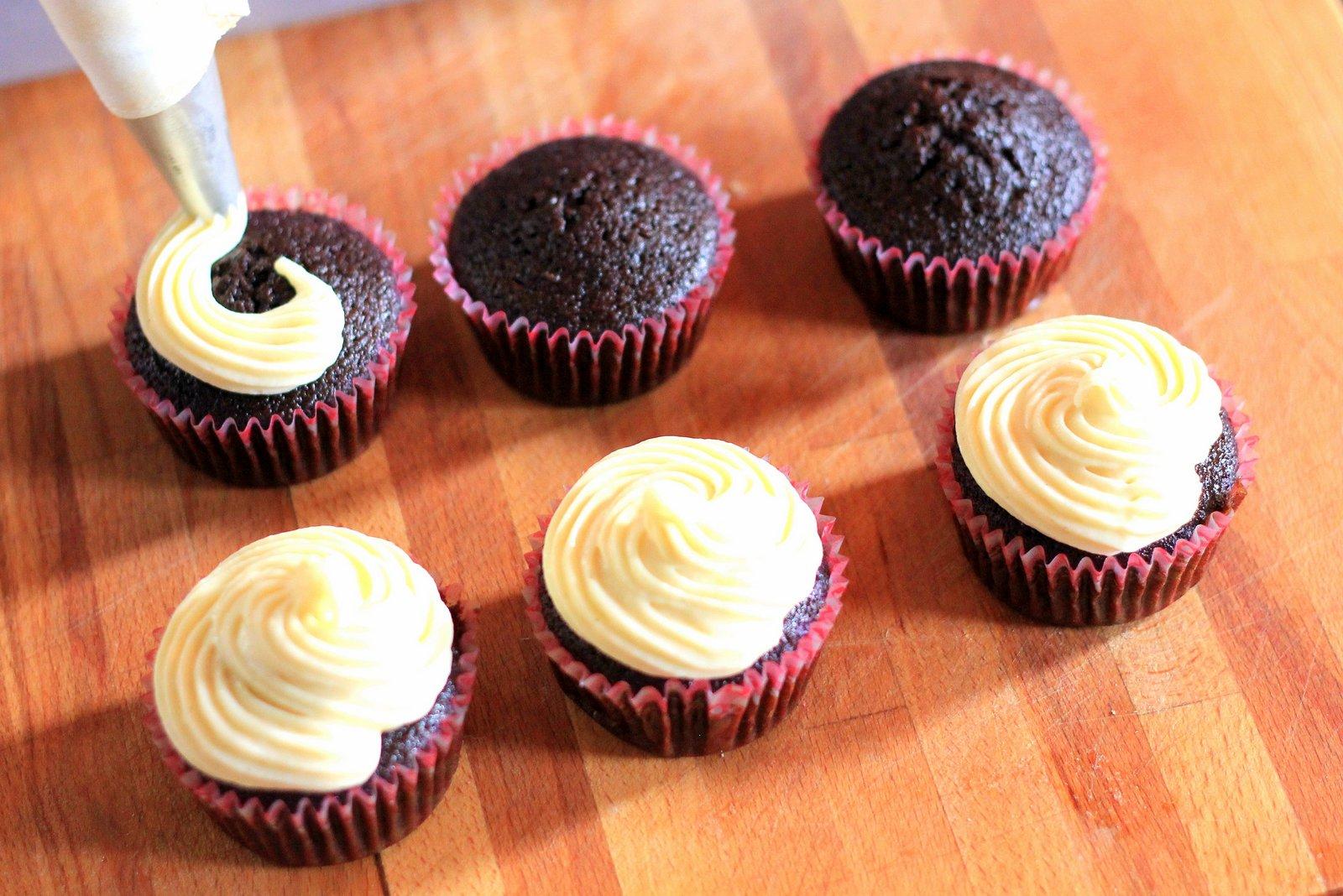 cupcakes - recept, malinove