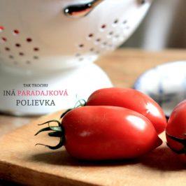 polievka z pecenych paradajok, recept