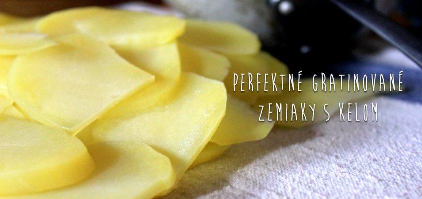 gratinovane zemiaky s kelom, recept