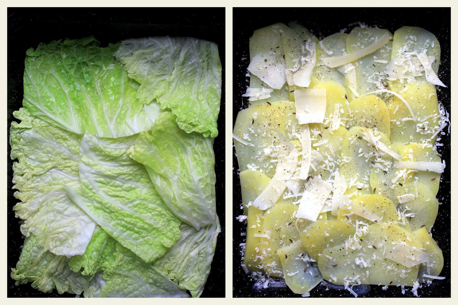 gratinovane zemiaky s kelom, recept.