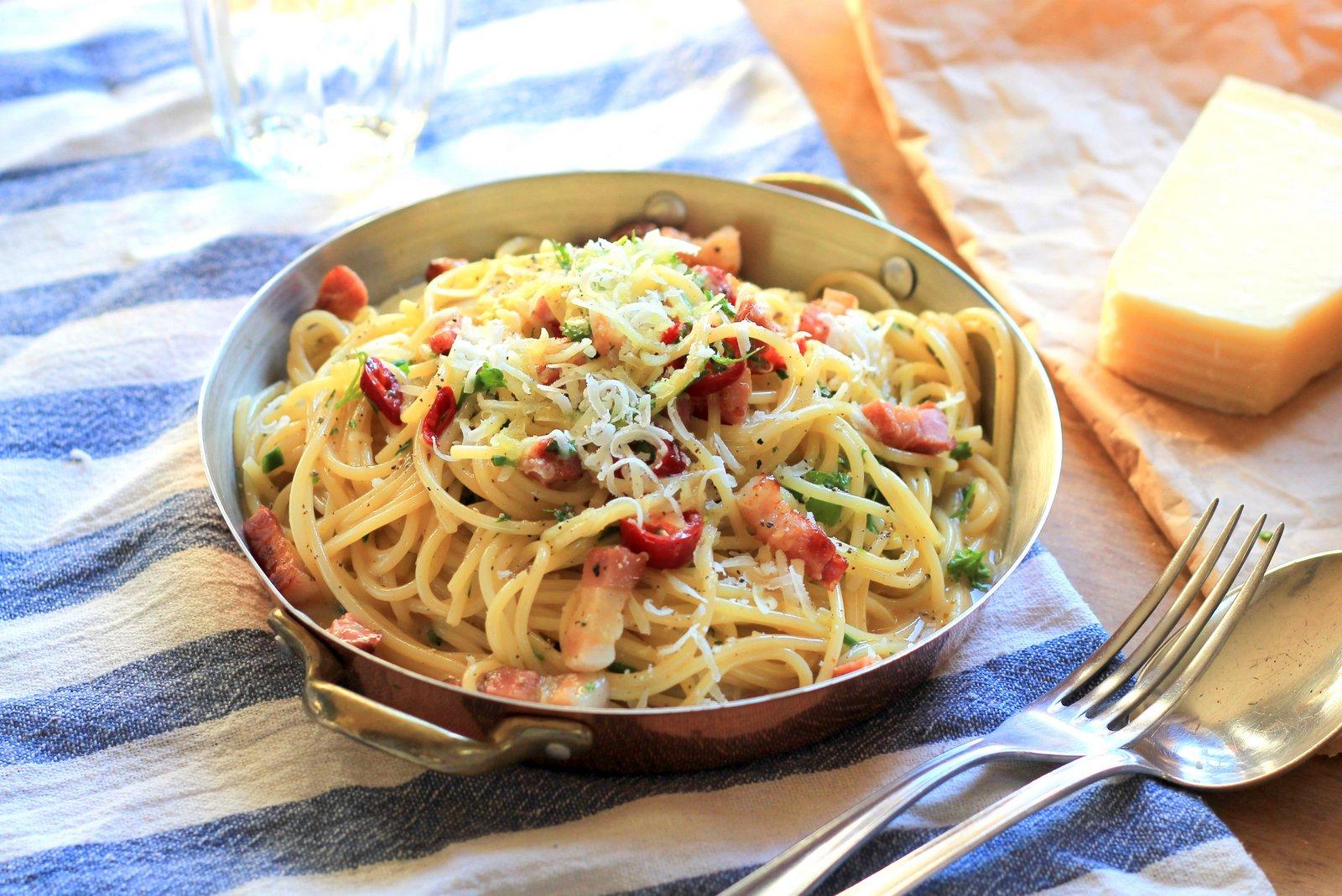 špagety carbonara, recept