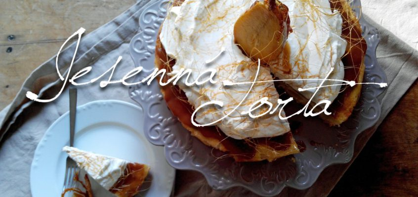 Jesenná hruškovo-karamelová torta