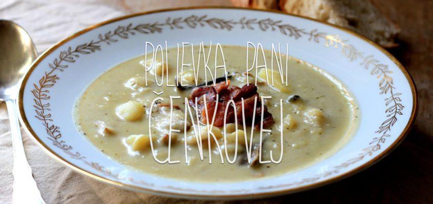 krémová zemiaková polievka s hubami