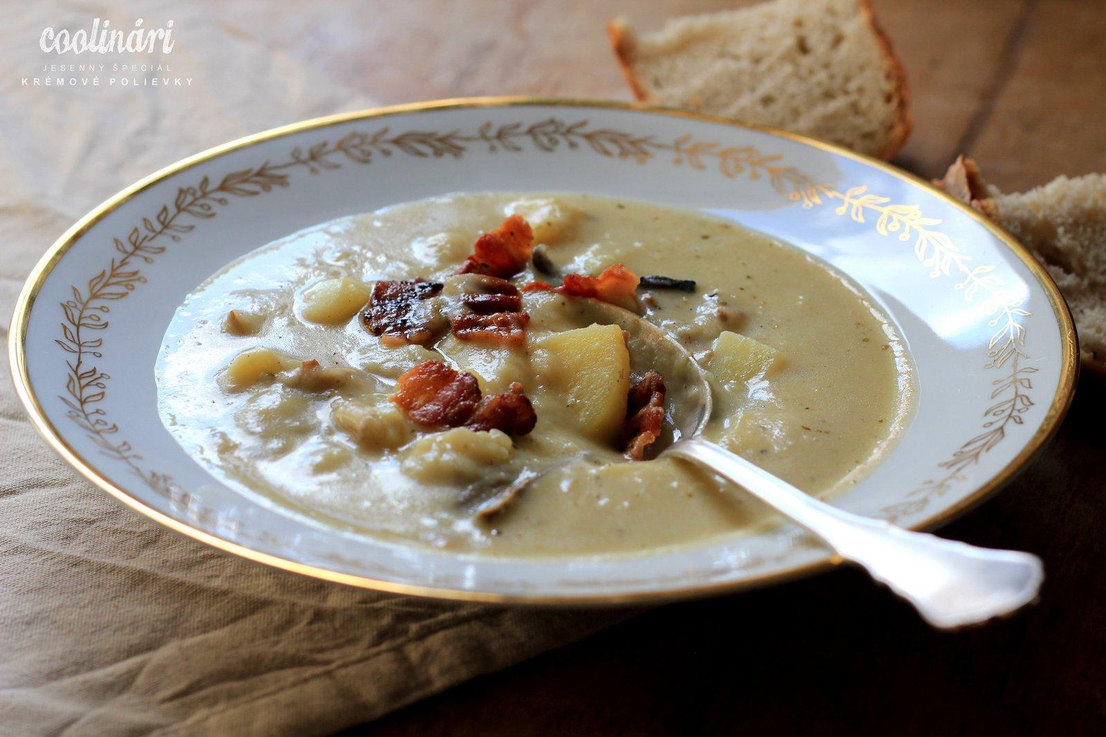 krémová zemiaková polievka