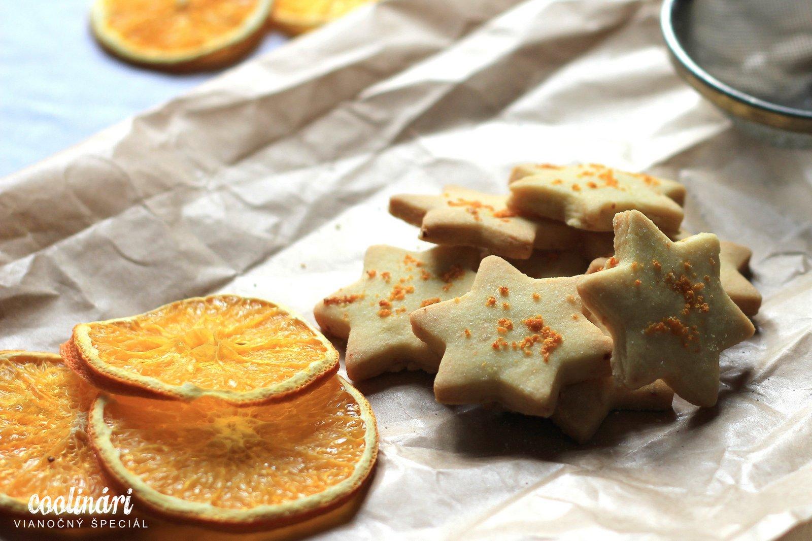 Krehké pomarančové sušienky