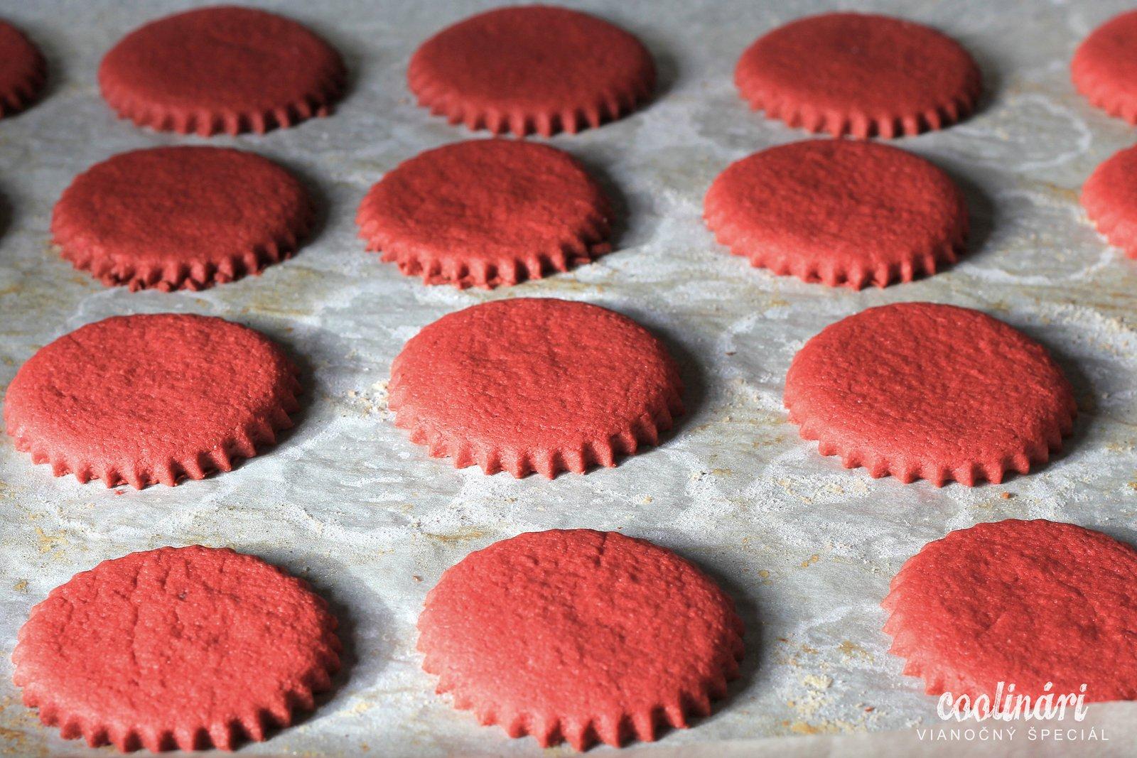 red velvet cookies, recept