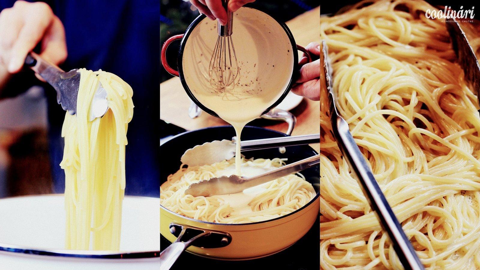 špagety alfredo, recept