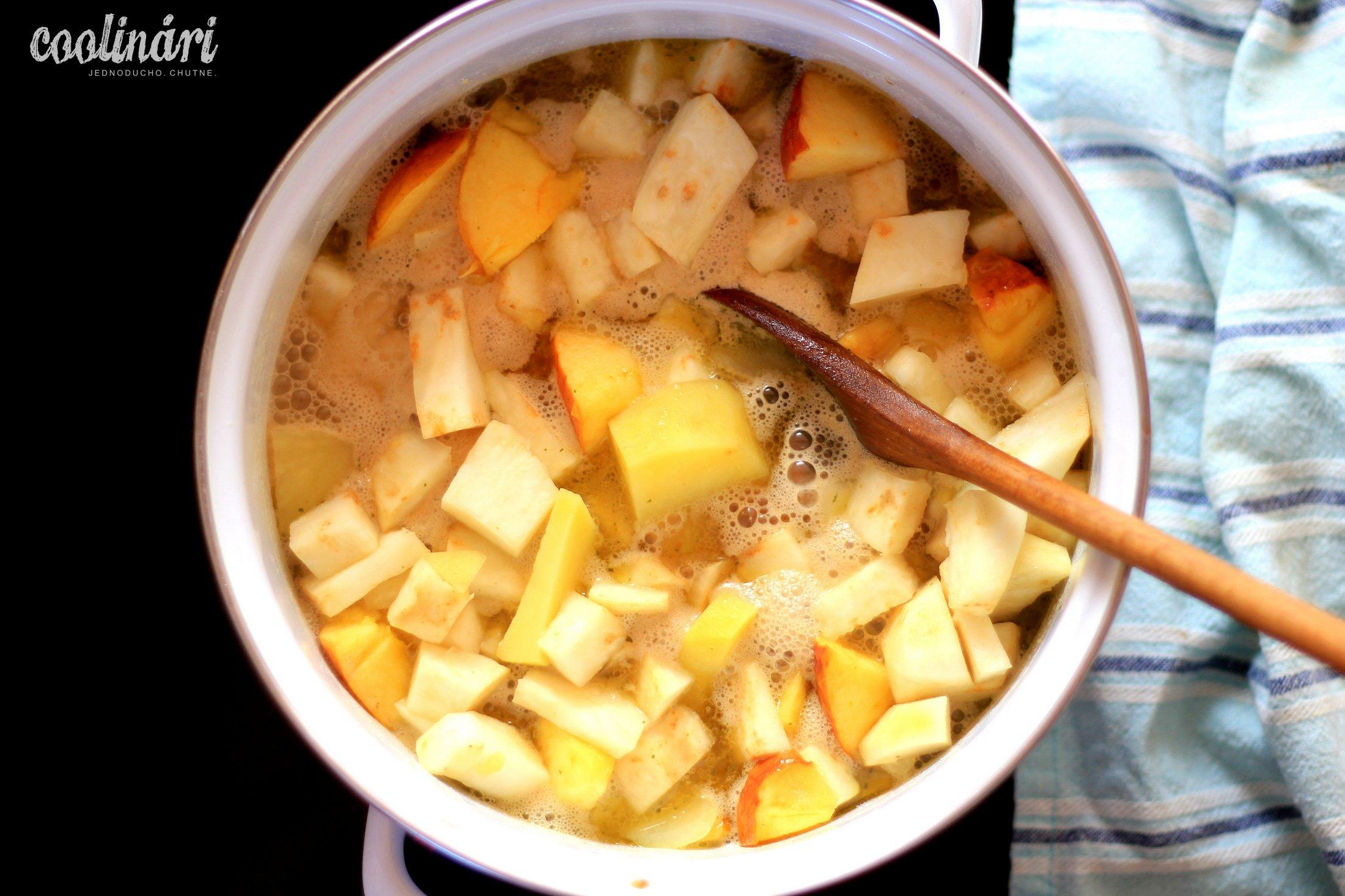 zelerový krém, recept