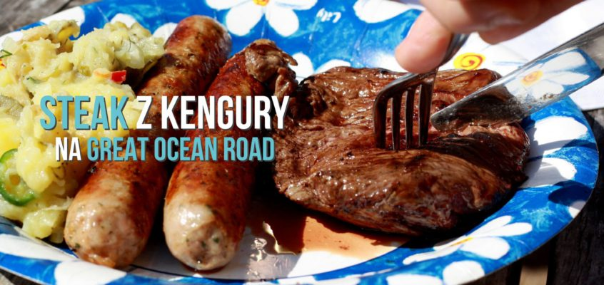 Steak z kengury na Great Ocean Road