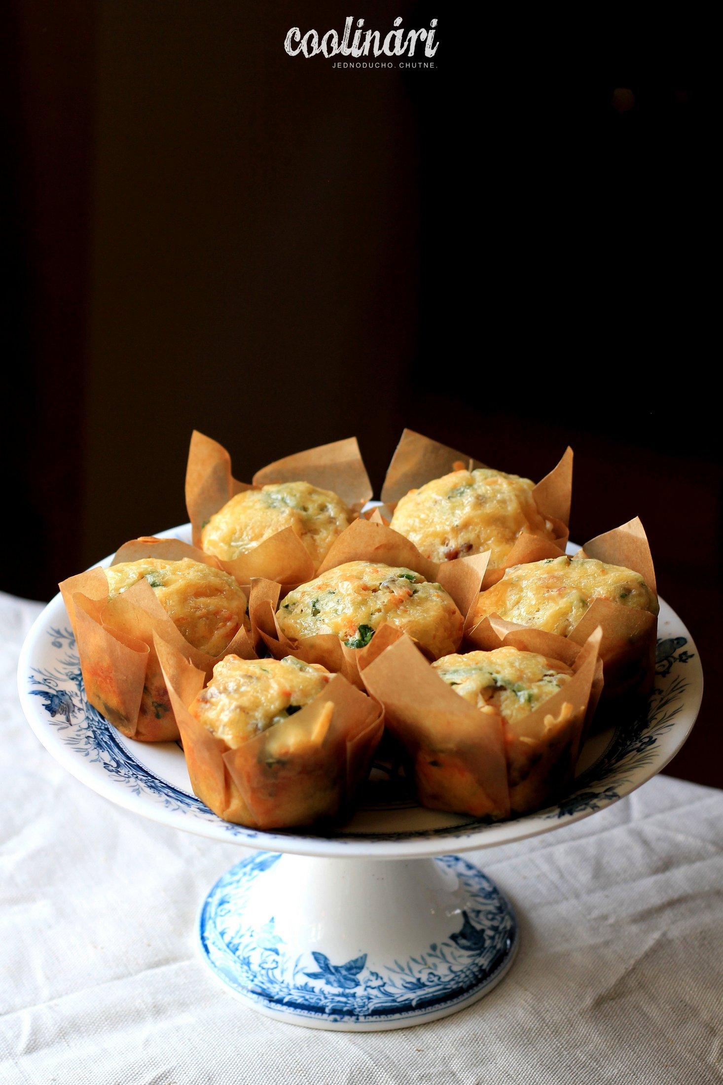 Špenátovo-mrkvové muffiny, recept