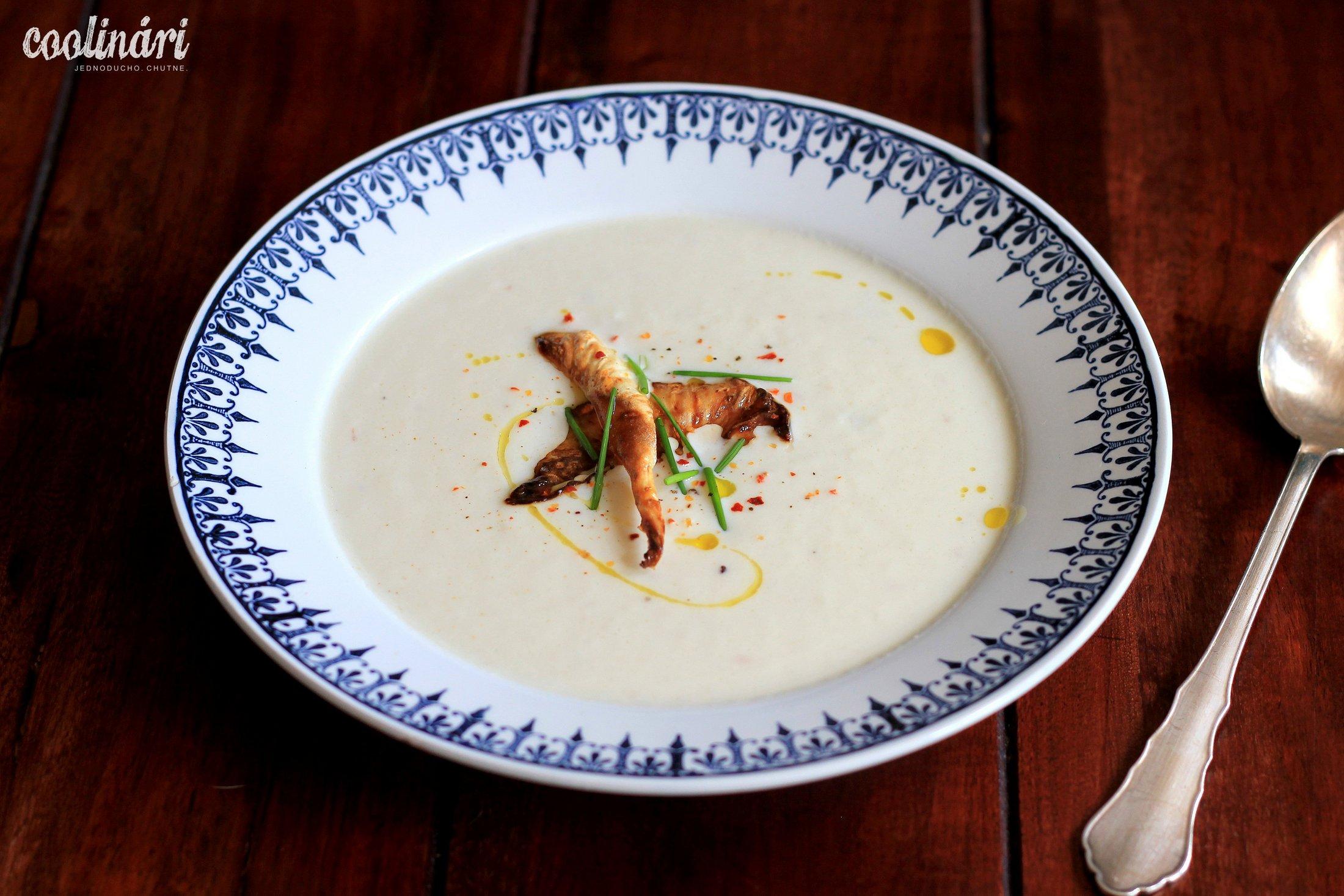 karfiolová vellutata, krémová polievka, recept
