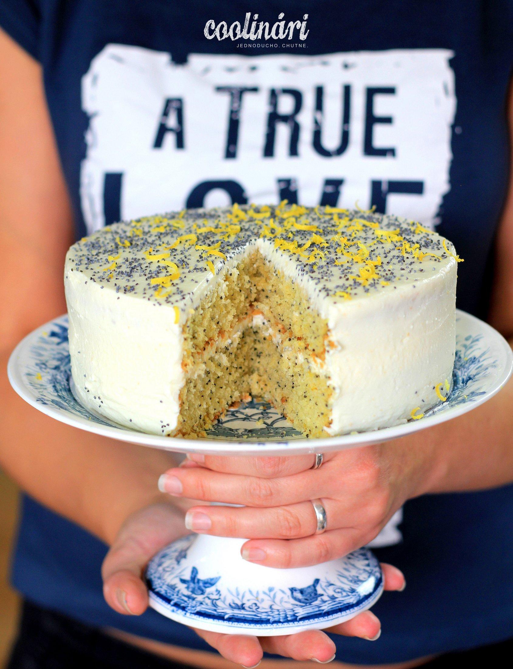 citronova torta s makom