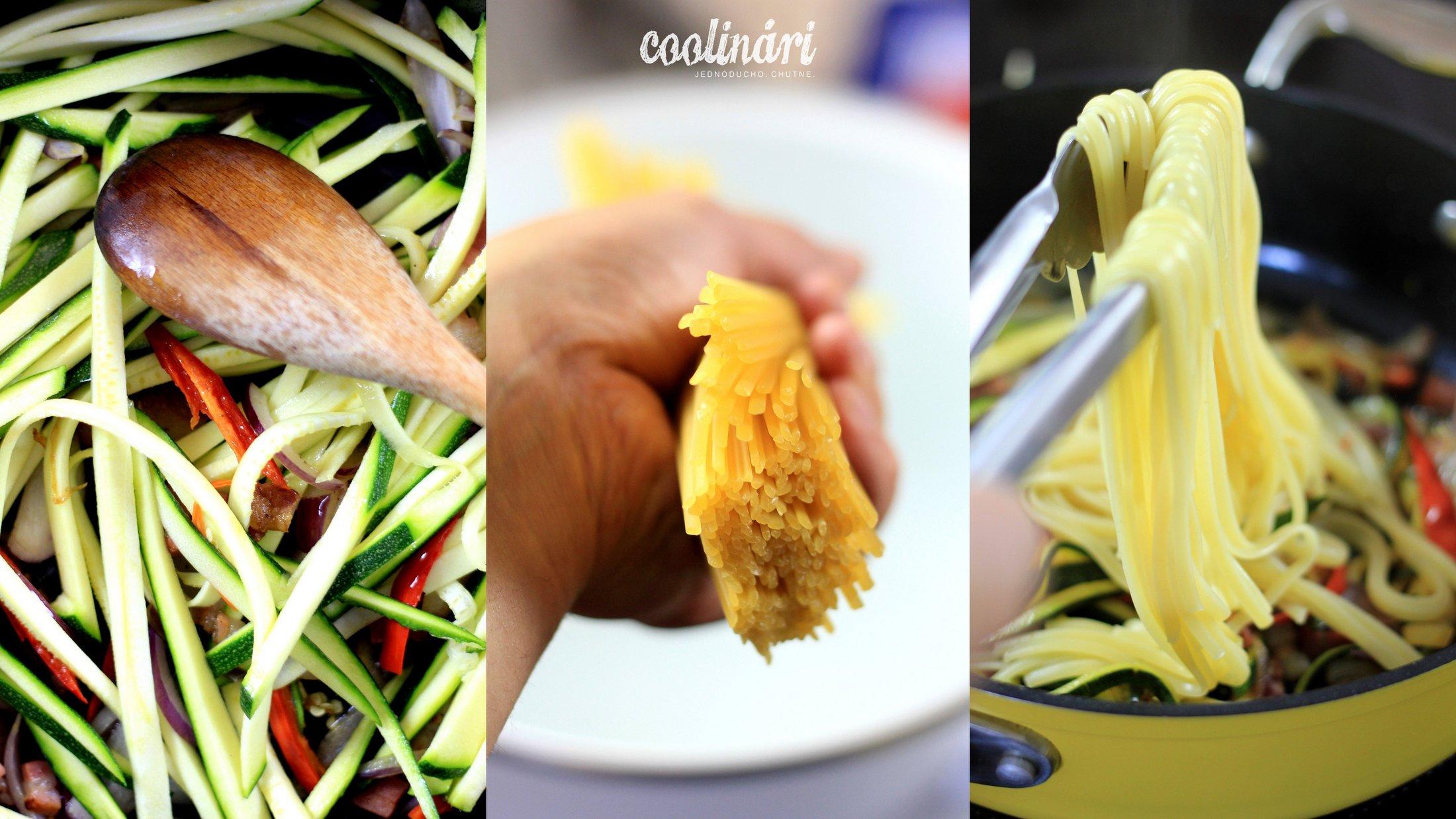 linguine s cuketou a citrónovou kôrou