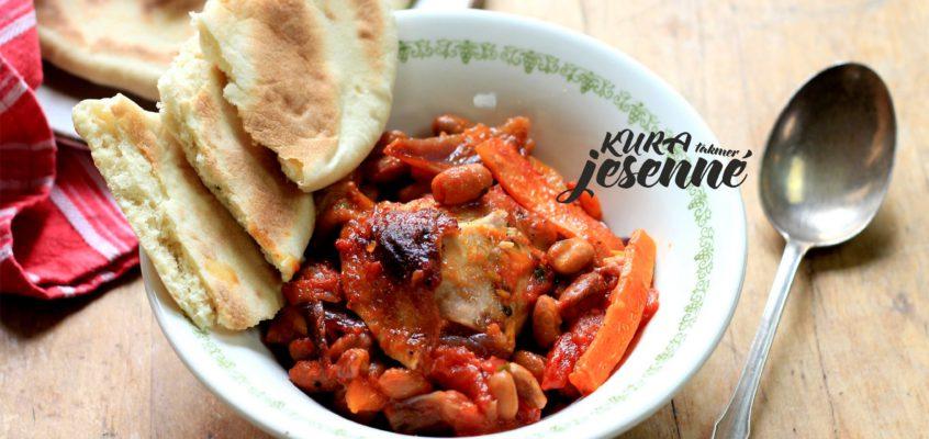 Kuracie stehná s chilli a fazuľou