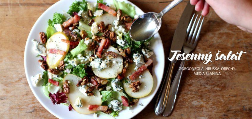 Recept na absolútne jednoduchý jesenný šalát s hruškou a gorgonzolou. Od coolinari.sk