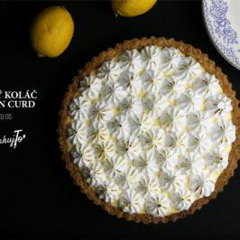 Krehký koláč s lemon curd