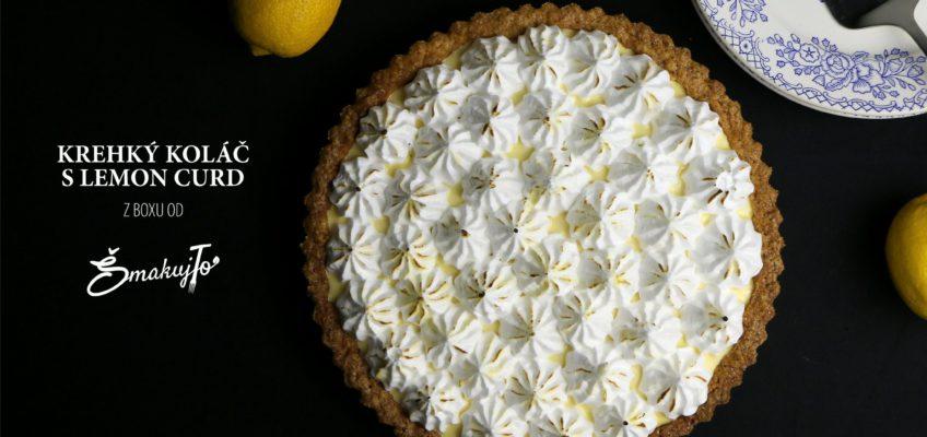 krehky kolac s lemon curd