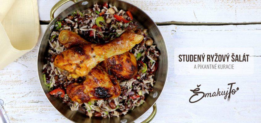 Studený ryžový šalát a pikantné kuracie