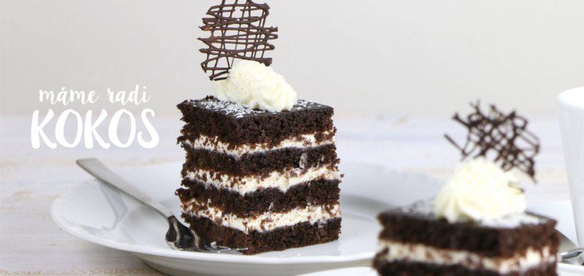 Kokosovo-čokoládový koláčik