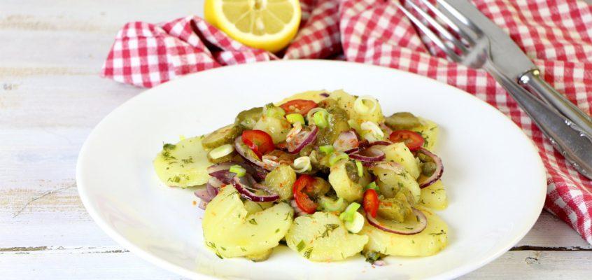 Ľahký zemiakový šalát