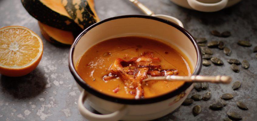 Tekvicová polievka spomarančom