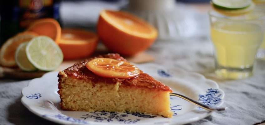 Pomarančovo-mandľový koláč