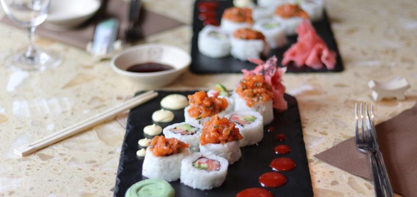 Steak z tuniaka a sushi na dva spôsoby  podľa MAMA'S PANASIAN RESTAURANT