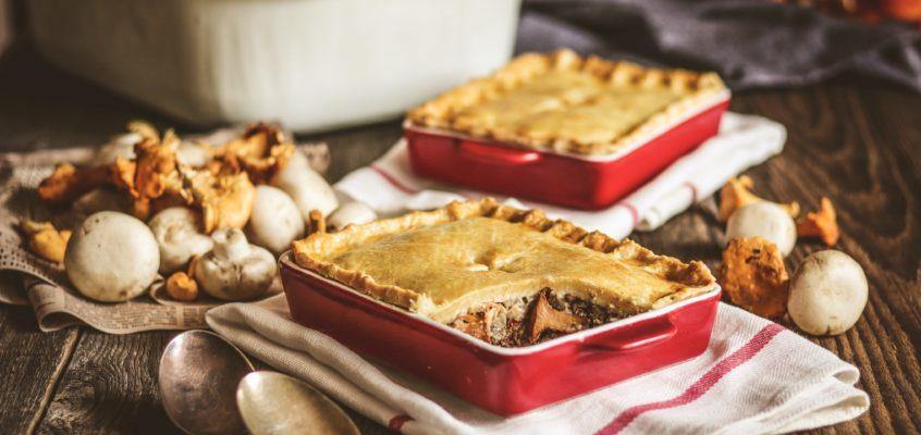 Hubový pie (koláč) s hovädzím mäsom