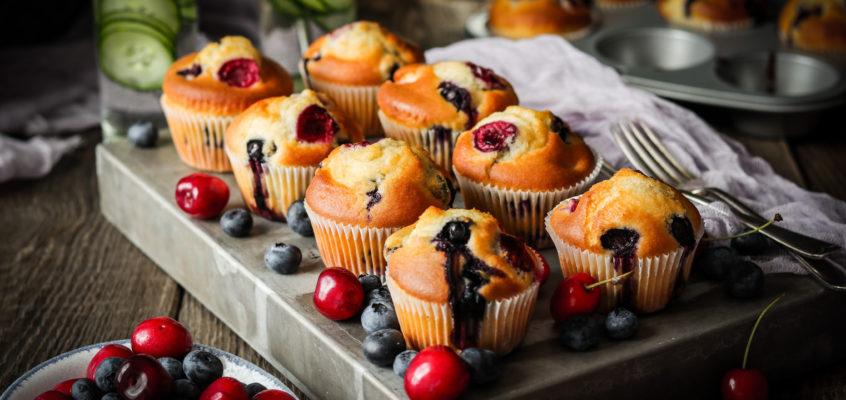 Rýchle ovocné muffiny