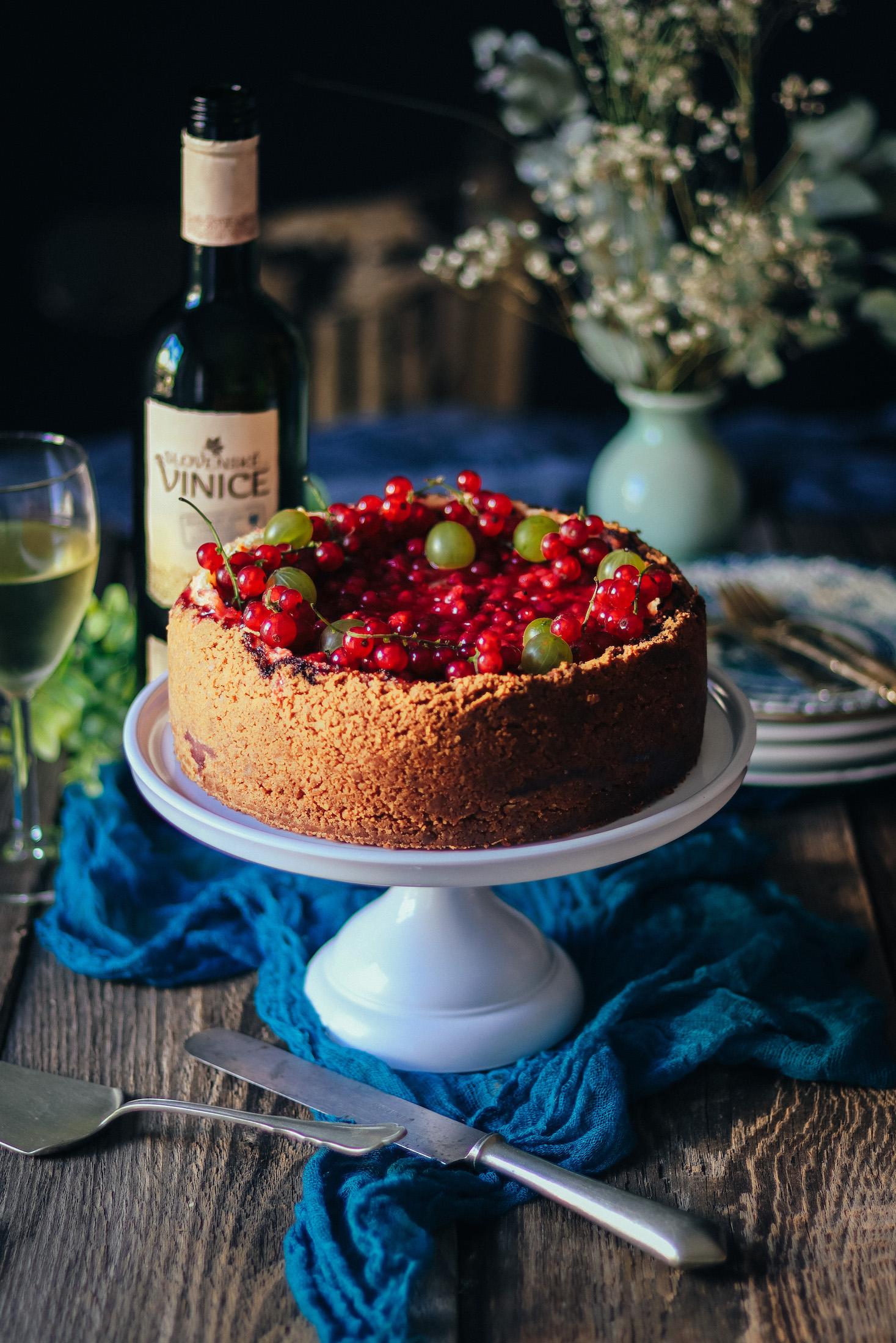 ríbezľový cheesecake