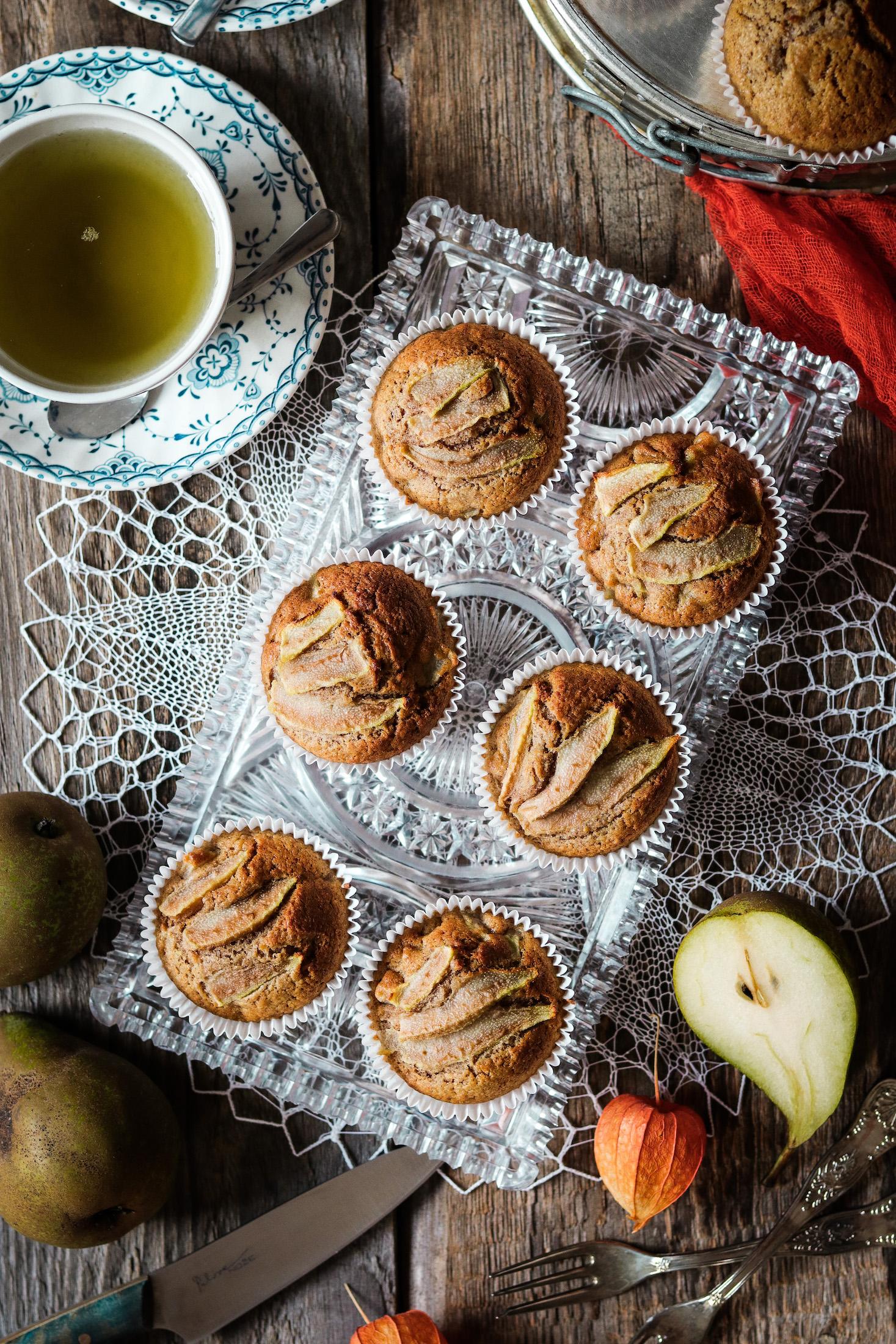 Tekvicovo-hruškové muffiny