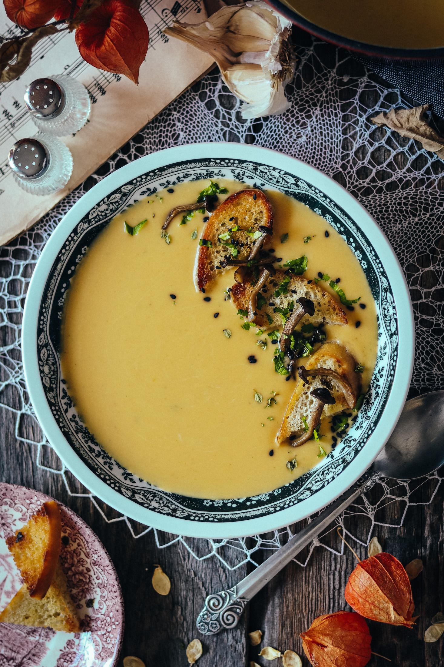tekvicovo-zemiaková polievka