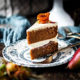 Tekvicovo-hrušková torta