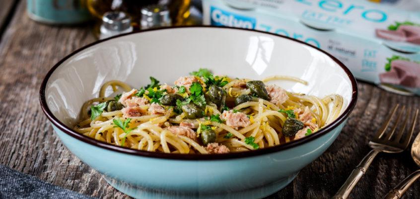 Svieže špagety s tuniakom
