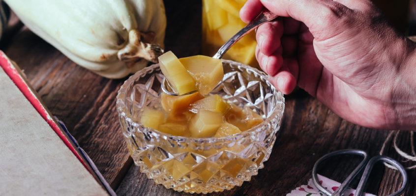 Tekvica ako ananás (tekvicový kompót)