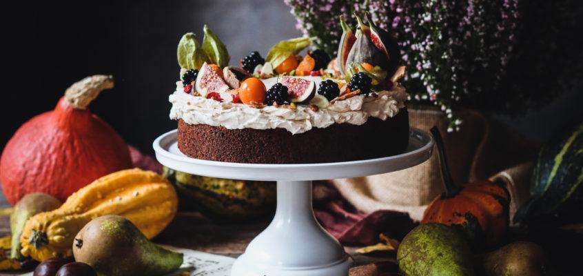 Tekvicovo-hruškový jesenný koláč